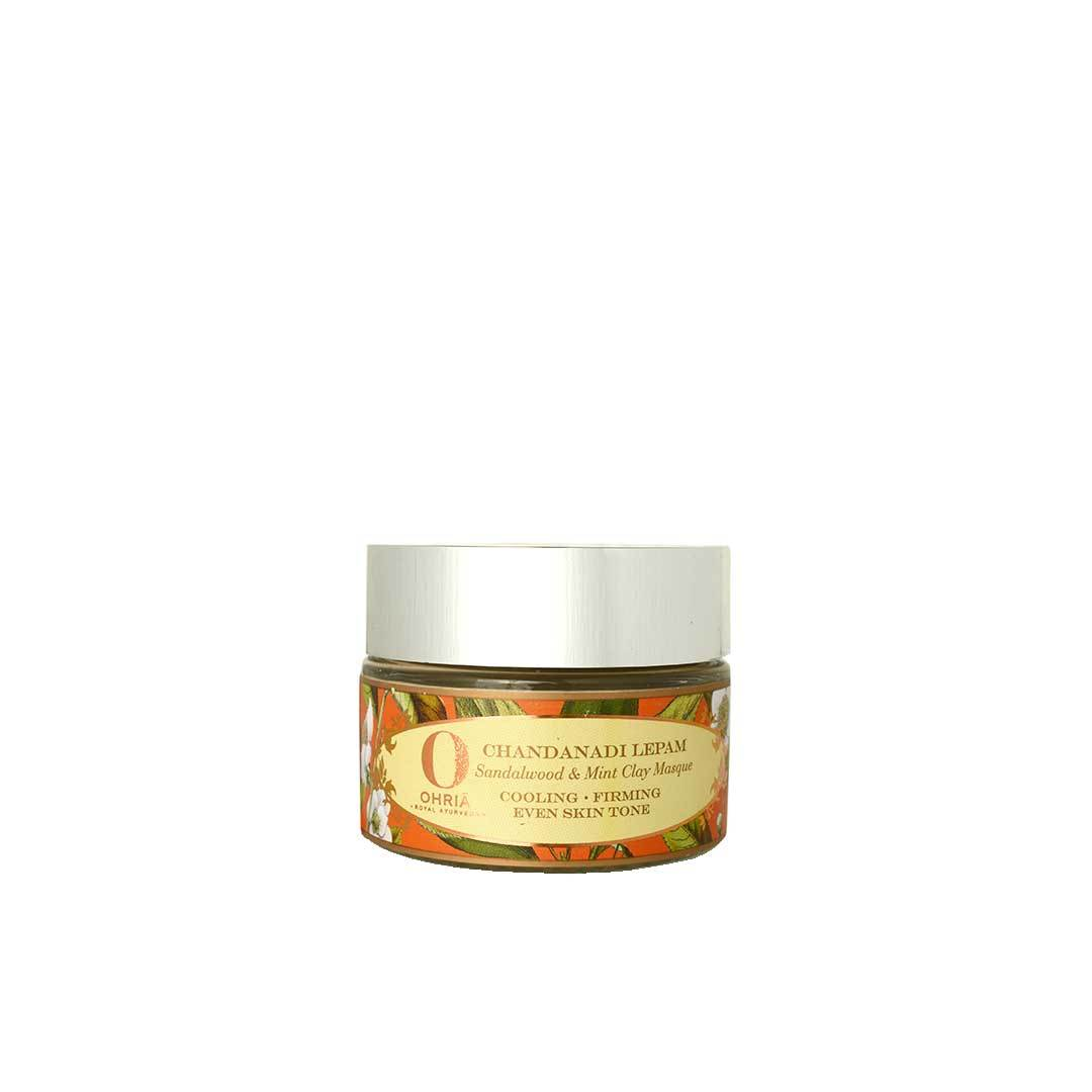 Ohria Ayurveda Chandanadi Lepam, Sandalwood and Mint Clay Masque -1