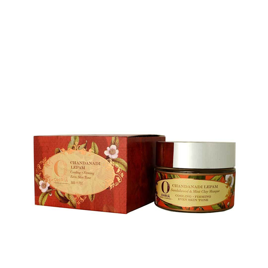 Ohria Ayurveda Chandanadi Lepam, Sandalwood and Mint Clay Masque -2