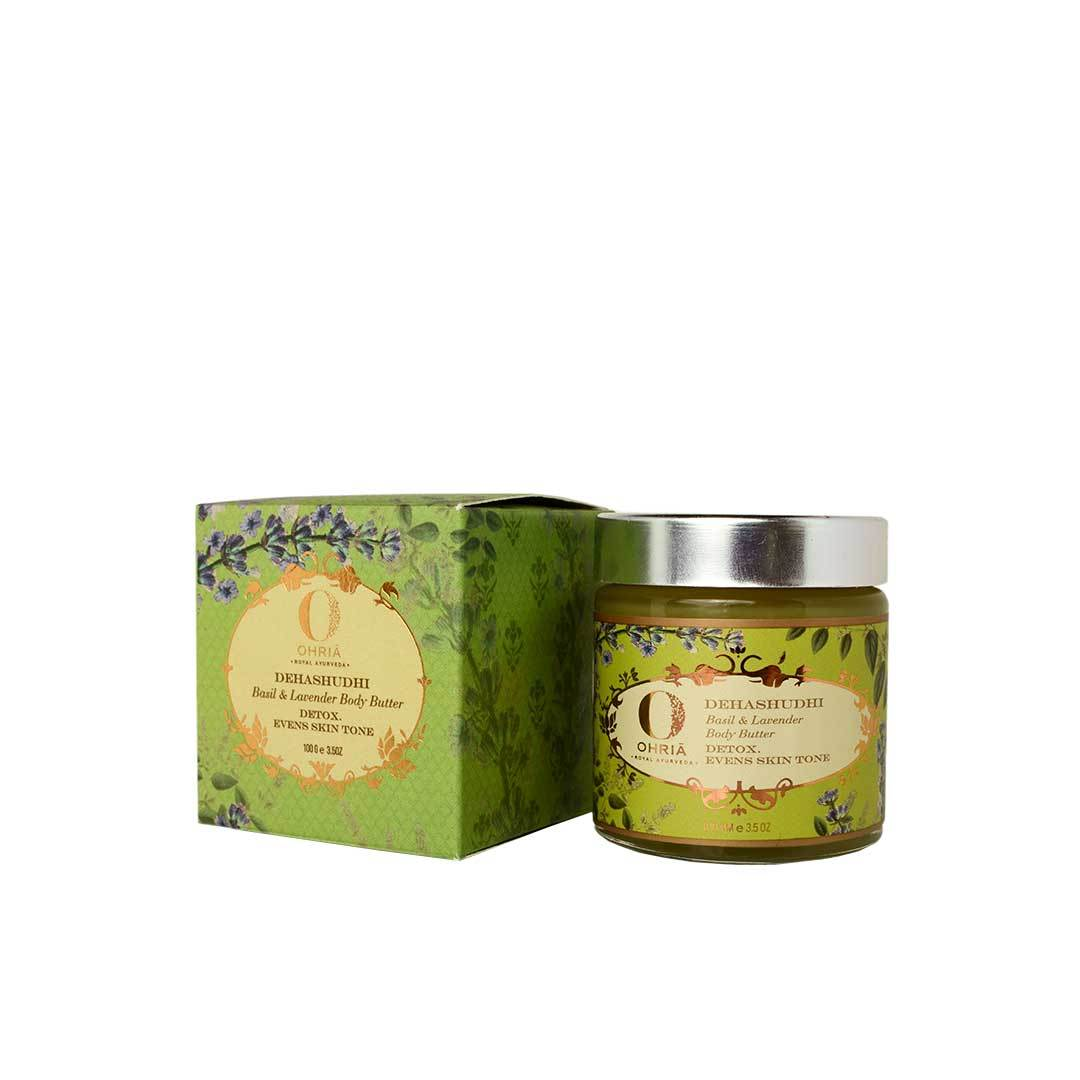 Ohria Ayurveda Dehashudhi, Basil and Lavender Body Butter -2