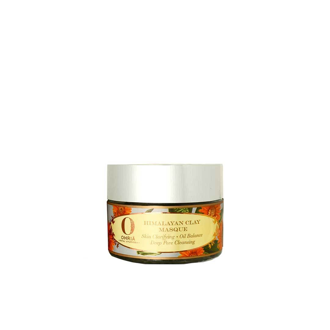 Ohria Ayurveda Himalayan Clay Masque, Skin Clarifying, Oil Balance and Pore Cleansing -1