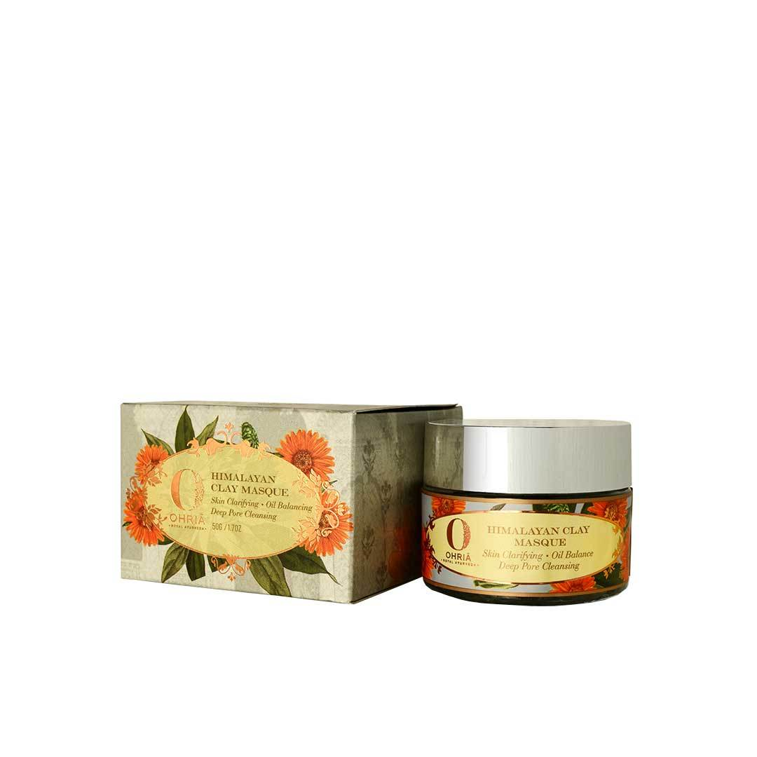Ohria Ayurveda Himalayan Clay Masque, Skin Clarifying, Oil Balance and Pore Cleansing -2
