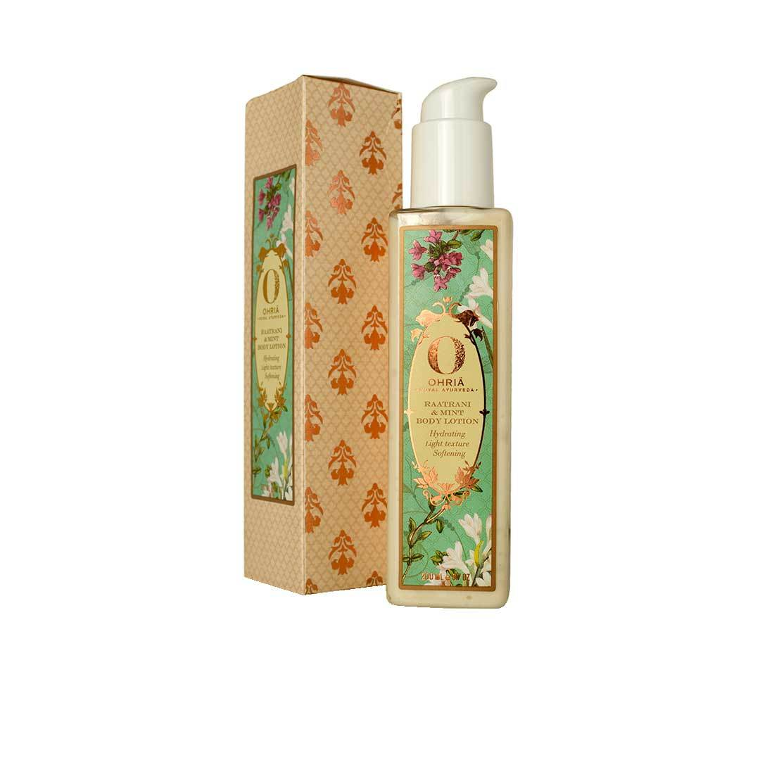 Ohria Ayurveda Raatrani and Mint Body Lotion -2