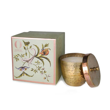 Ohria Ayurveda Raatrani and Mint, Luxury Copper Candle -1