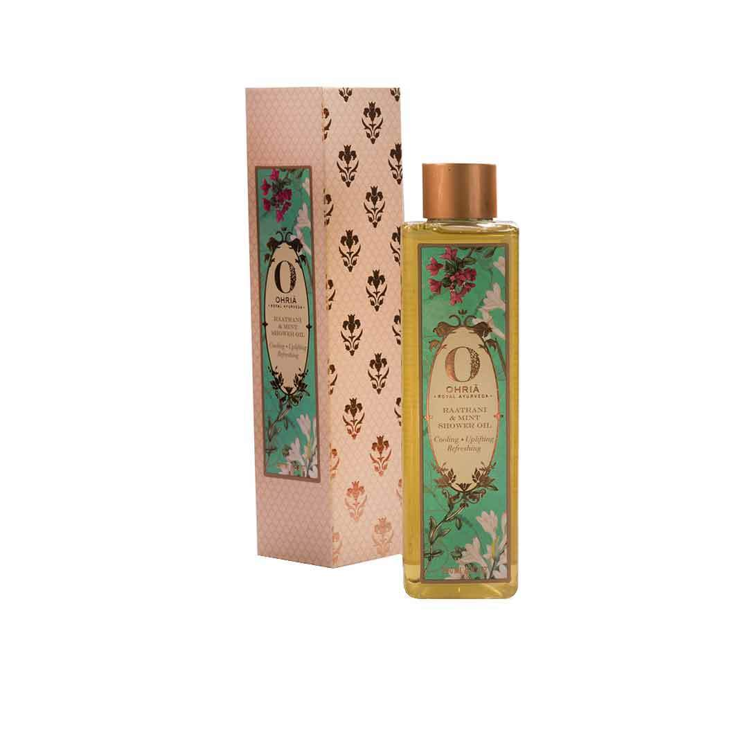 Ohria Ayurveda Raatrani and Mint Shower Oil -2