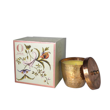 Ohria Ayurveda Sandalwood and Kesar, Luxury Copper Candle -1