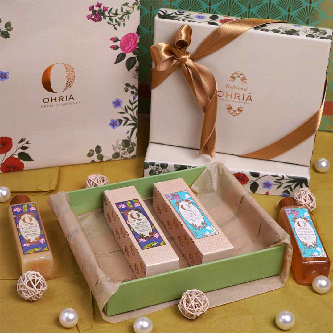 Vanity Wagon | Ohria Ayurveda Shudh, Shower Wash Gift Box