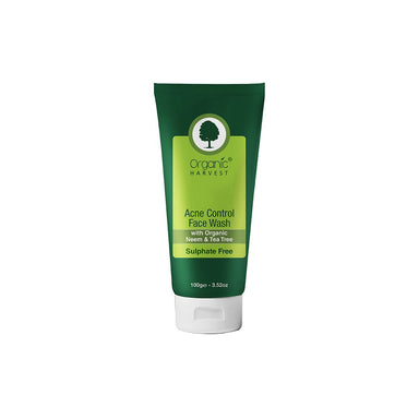 Organic Harvest Acne Control Face Wash with Organic Neem and Tea Tree