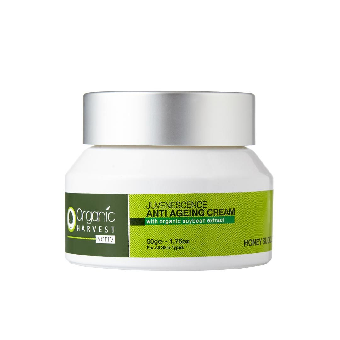 Organic Harvest Activ, Juvenescence, Anti Agening Cream with Organic Soybean Extract and Honey Suckle