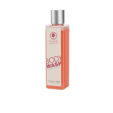 Organic Harvest Body Wash to Hydrate, Cleanse and Relax with Luxurious Rose