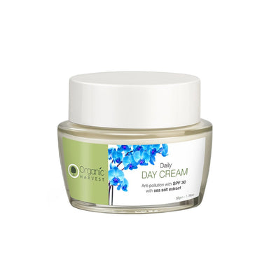 Organic Harvest Daily Day Cream for Anti Pollution SPF 30 with Sea Salt Extract 50gm