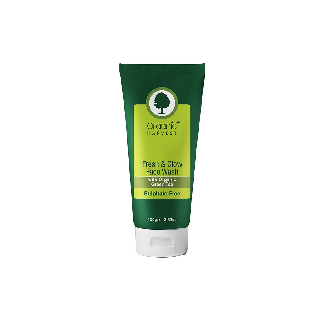 Organic Harvest Fresh and Glow Face Wash with Organic Green Tea