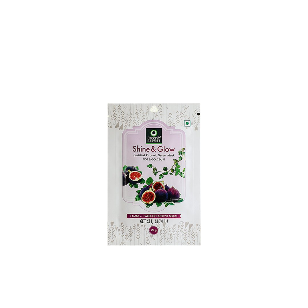 Organic Harvest Shine and Glow Face Sheet Mask with Figs and Gold Dust
