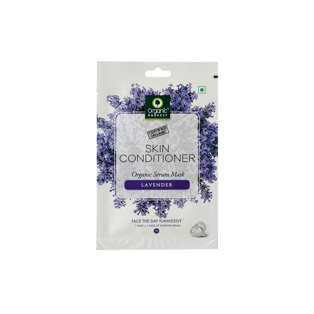Organic Harvest Skin Conditioner Face Sheet Mask with Lavender