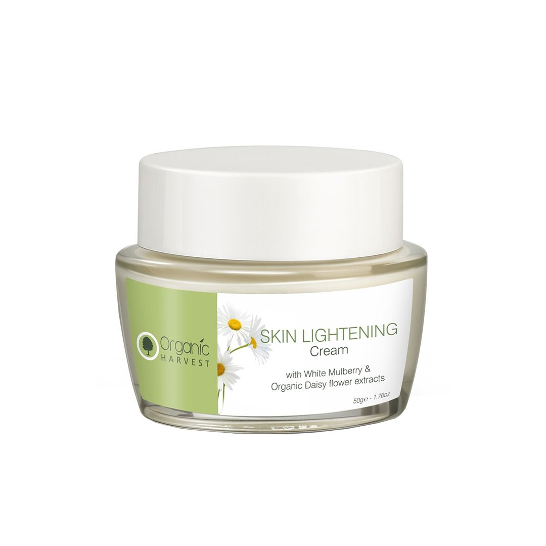 Organic Harvest Skin Lightening Face Cream with White Mulberry and Organic Daisy Flower Extracts 50gm