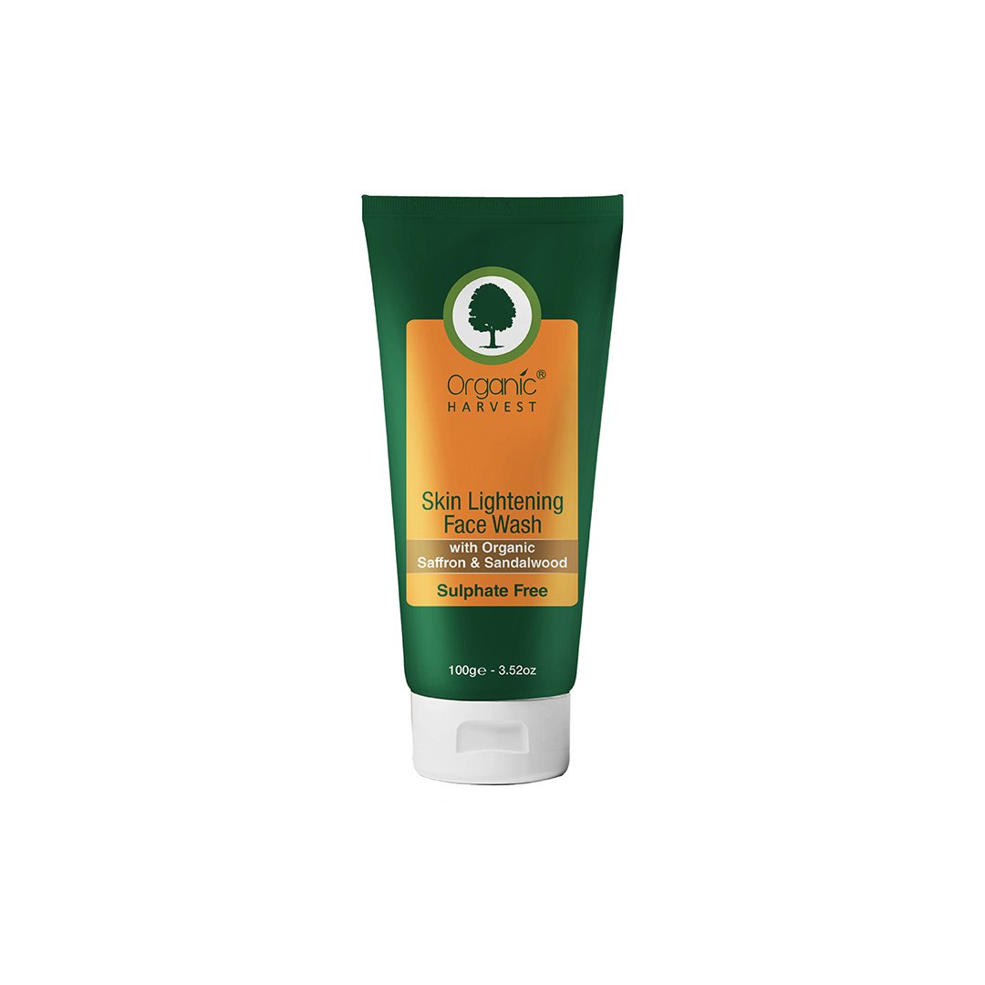Organic Harvest Skin Lightening Face Wash with Organic Saffron and Sandalwood