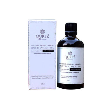 Vanity Wagon | Buy Qurez Hair Treatment Oil with Hempseed, Kalonji & Babchi