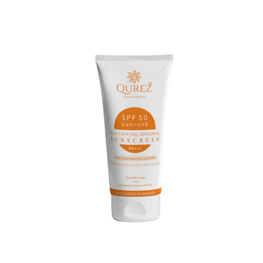 Vanity Wagon | Buy Qurez Mattifying Sunscreen with Sea Buckthorn, Aloe Vera & Vitamin E, SPF 50 PA+++
