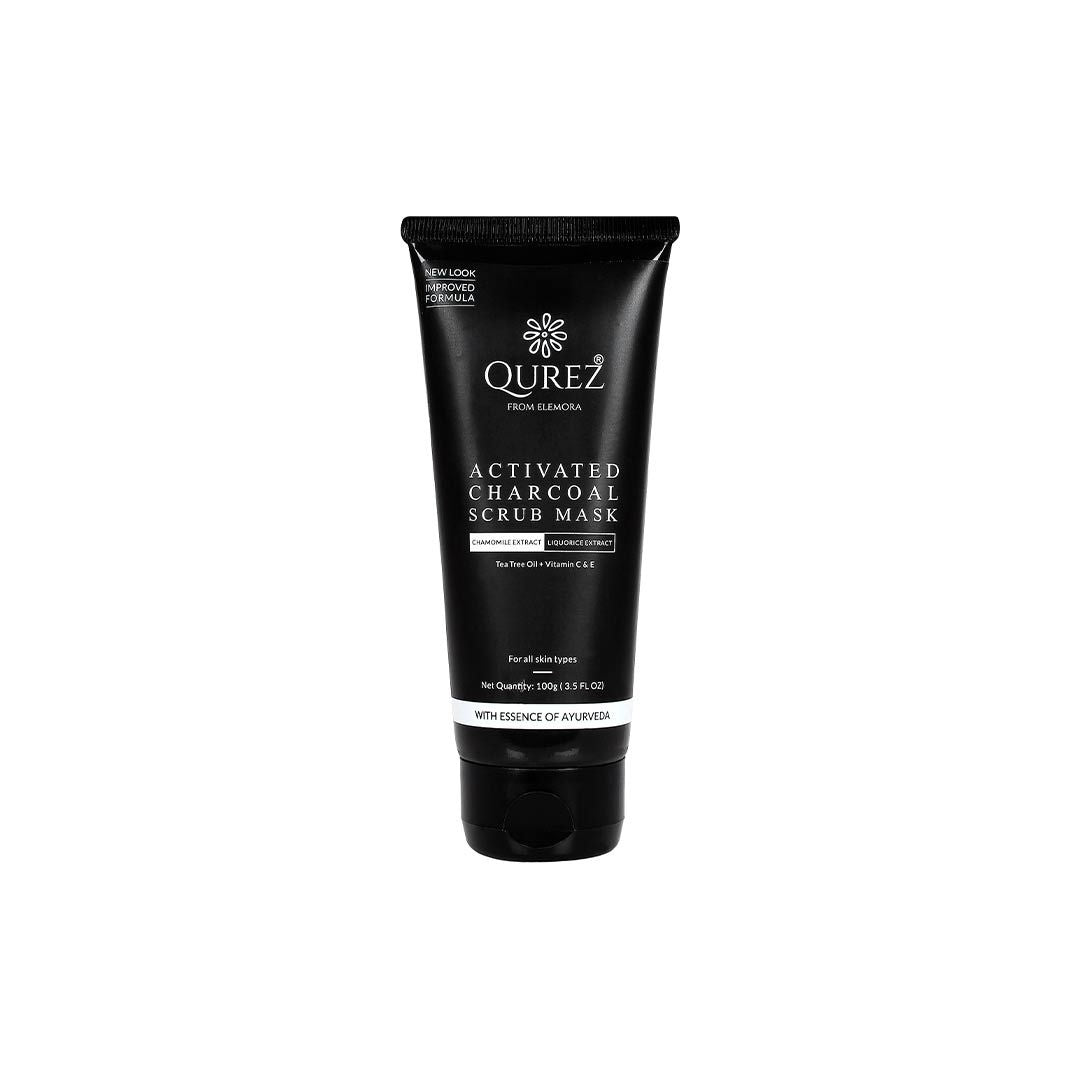 Vanity Wagon | Buy Qurez Activated Charcoal Scrub Mask with Tea Tree, Vitamin C and E