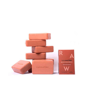 Raw Nature Deep Moisturising Handmade Soap Bar with Red Clay and Wild Argan Oil -2