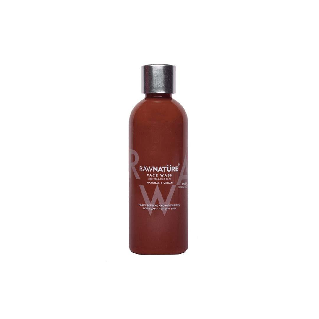 Raw Nature Face Wash, Red Volcanic Clay