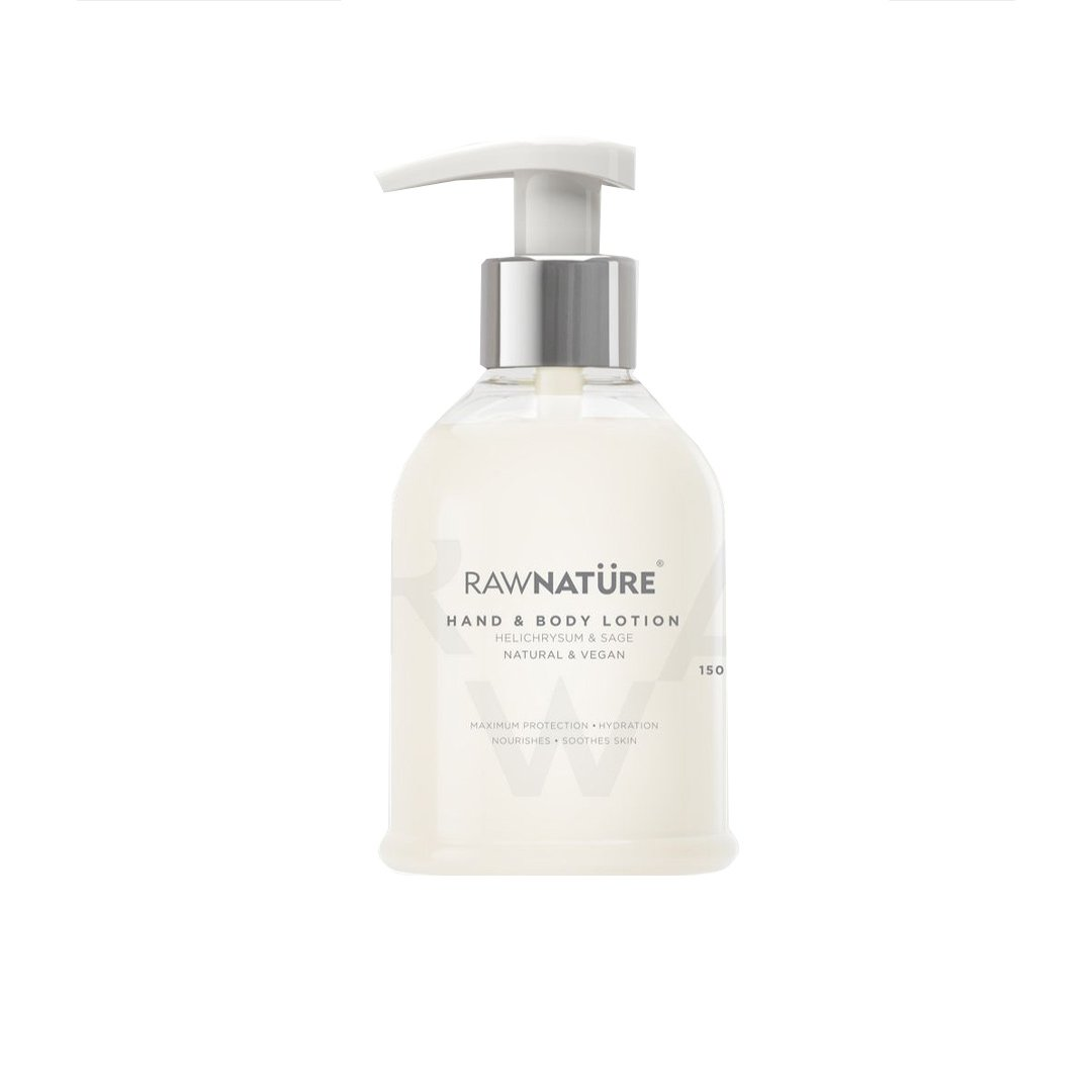 Raw Nature Hand & Body Lotion with Helichrysum & Sage