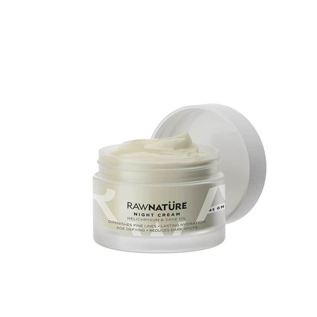 Raw Nature Night Cream, Helichrysum and Sage Oil