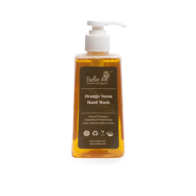 Vanity Wagon | Buy Rustic Art Orange Neem Hand Wash