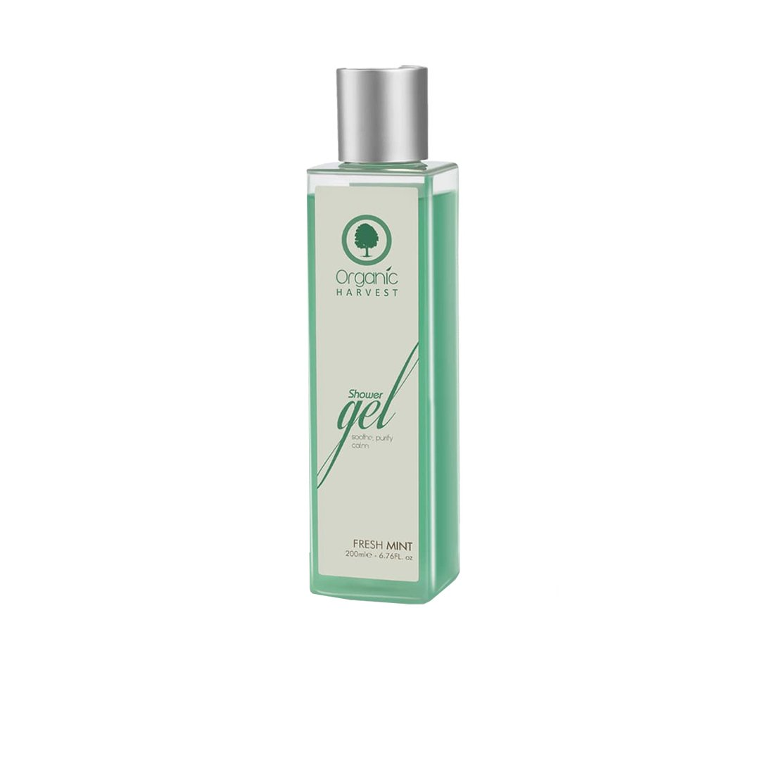 Organic Harvest Shower Gel to Soothe, Purify and Calm with Fresh Mint