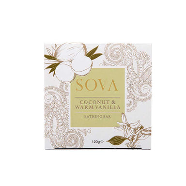 Sova Coconut and Warm Vanilla Bathing Bar