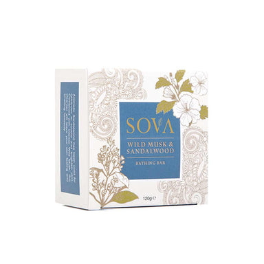 Sova Wild Musk and Sandalwood Bathing Bar