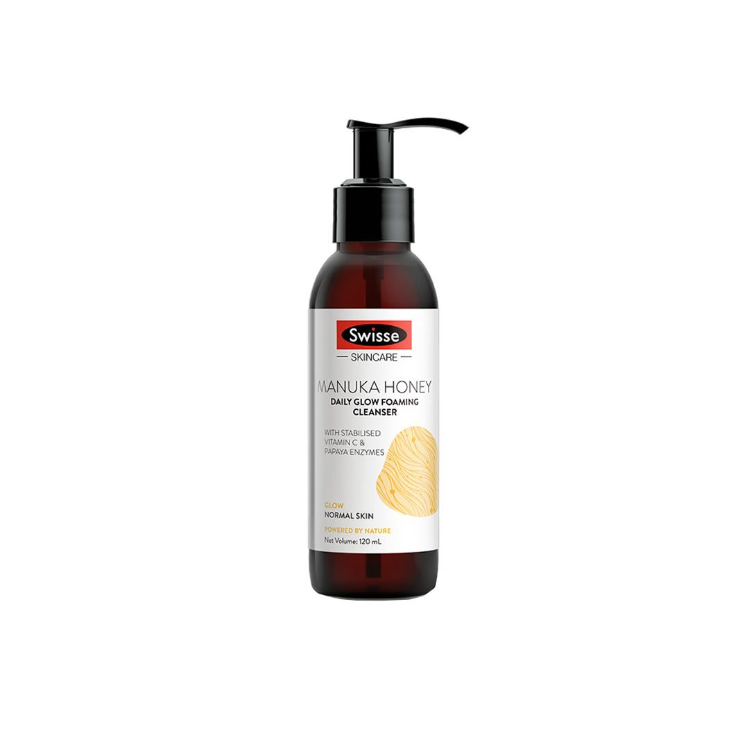 Vanity Wagon | Shop Swisse Manuka Honey Daily Glow Foaming Cleanser with Vitamin C & Papaya