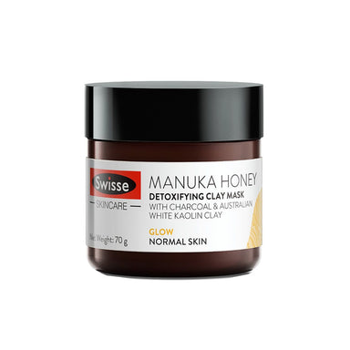 Vanity Wagon | Shop Swisse Manuka Honey Detoxifying Clay Mask with Charcoal & Kaolin Clay