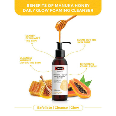 Vanity Wagon | Buy Swisse Skin brighting combo- Manuka Honey Glow Boosting Moisturiser + Manuka Honey Daily Glow Foaming Cleanser
