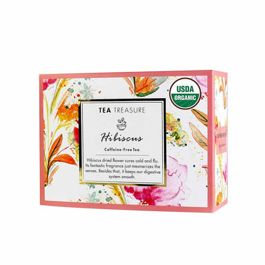 Vanity Wagon | Buy TeaTreasure Organic Hibiscus, Caffeine Free Herbal Tea