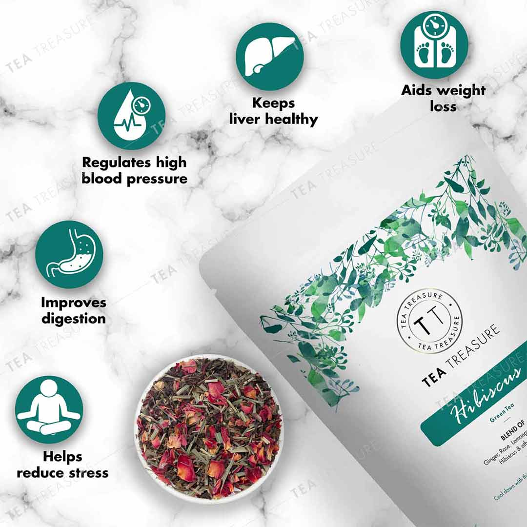 Vanity Wagon | Buy TeaTreasure Organic Hibiscus, Green Tea