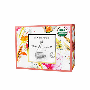 Vanity Wagon | Buy TeaTreasure Organic Spearmint, Herbal Tea