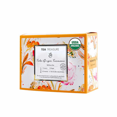 Vanity Wagon | Buy TeaTreasure Organic Tulsi Ginger Turmeric, Herbal Tea