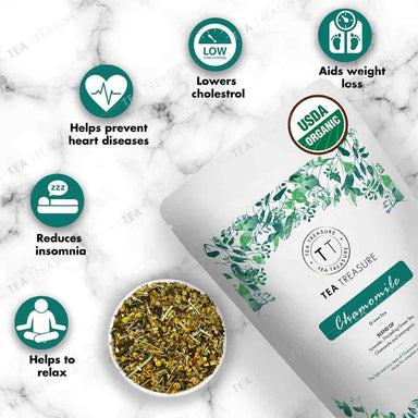 Vanity Wagon | Buy TeaTreasure Organic Chamomile, Green Tea