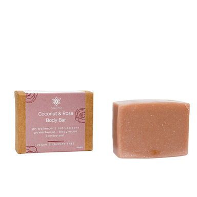 Vanity Wagon | Buy The  Coconut People Coconut & Rose Body Bar