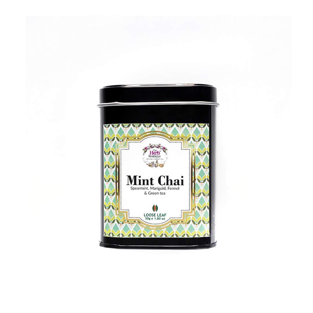 The Herb Boutique Mint Chai with Spearmint, Marigold, Fennel and Green Tea -1