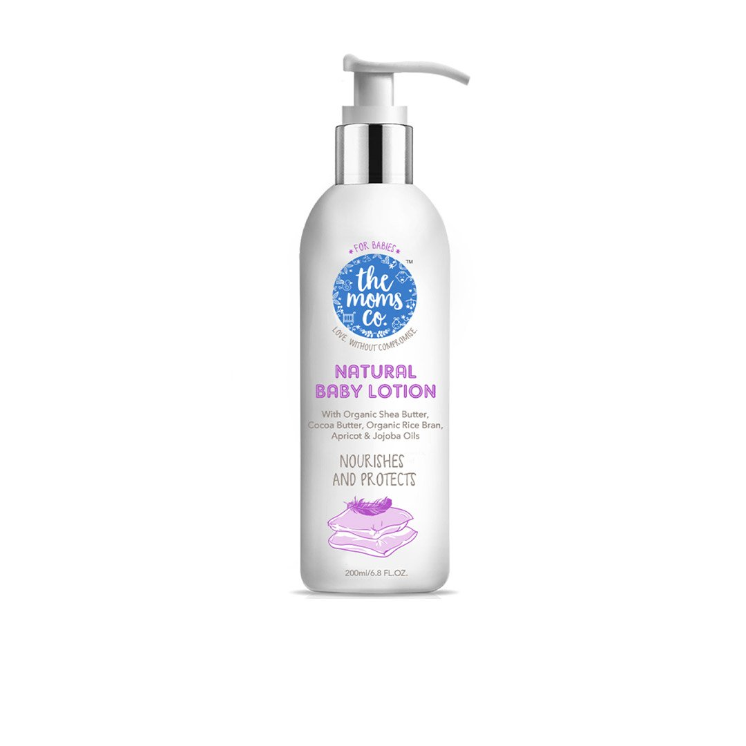 The Mom's Co. Natural Baby Lotion with Rice Bran, Apricot, Jojoba Oil, Cocoa and Shea Butter -1