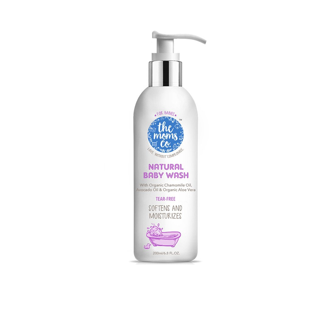 The Mom's Co. Natural Baby Wash with Organic Chamomile, Avocado and Aloe Vera -1