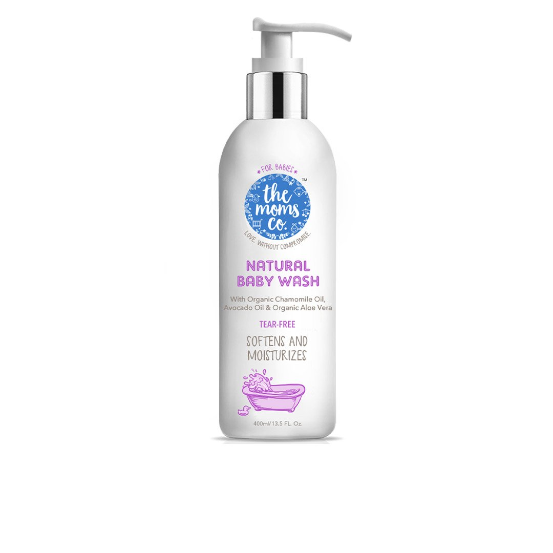 The Mom's Co. Natural Baby Wash with Organic Chamomile, Avocado and Aloe Vera -2