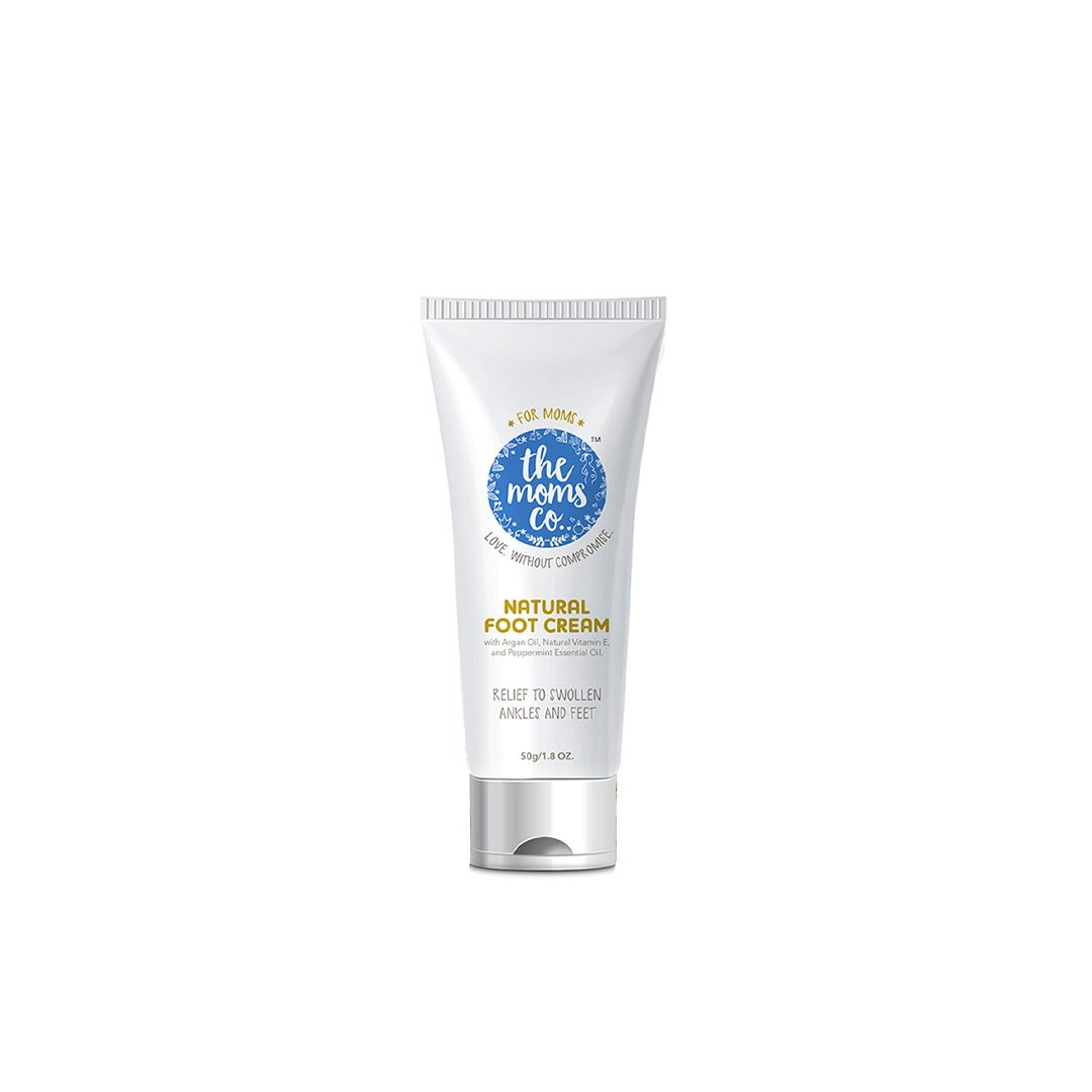 The Mom's Co. Natural Foot Cream with Argan Oil, Vitamin E and Peppermint Essential Oil -1