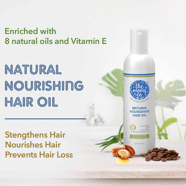 The Mom's Co. Natural Nourishing Hair Oil with Bhringraj, Amla, Coffee and Moroccan Argan Oil -2