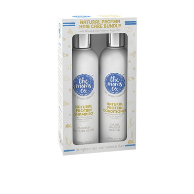 The Mom's Co. Natural Protein Hair Care Bundle with Wheat, Silk Protein and Argan Oil -2