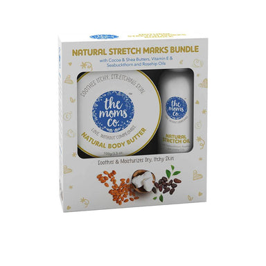 The Mom's Co. Natural Strech Marks Bundle with Vitamin E, Rosehip Oil, Cocoa and Shea Butter -1