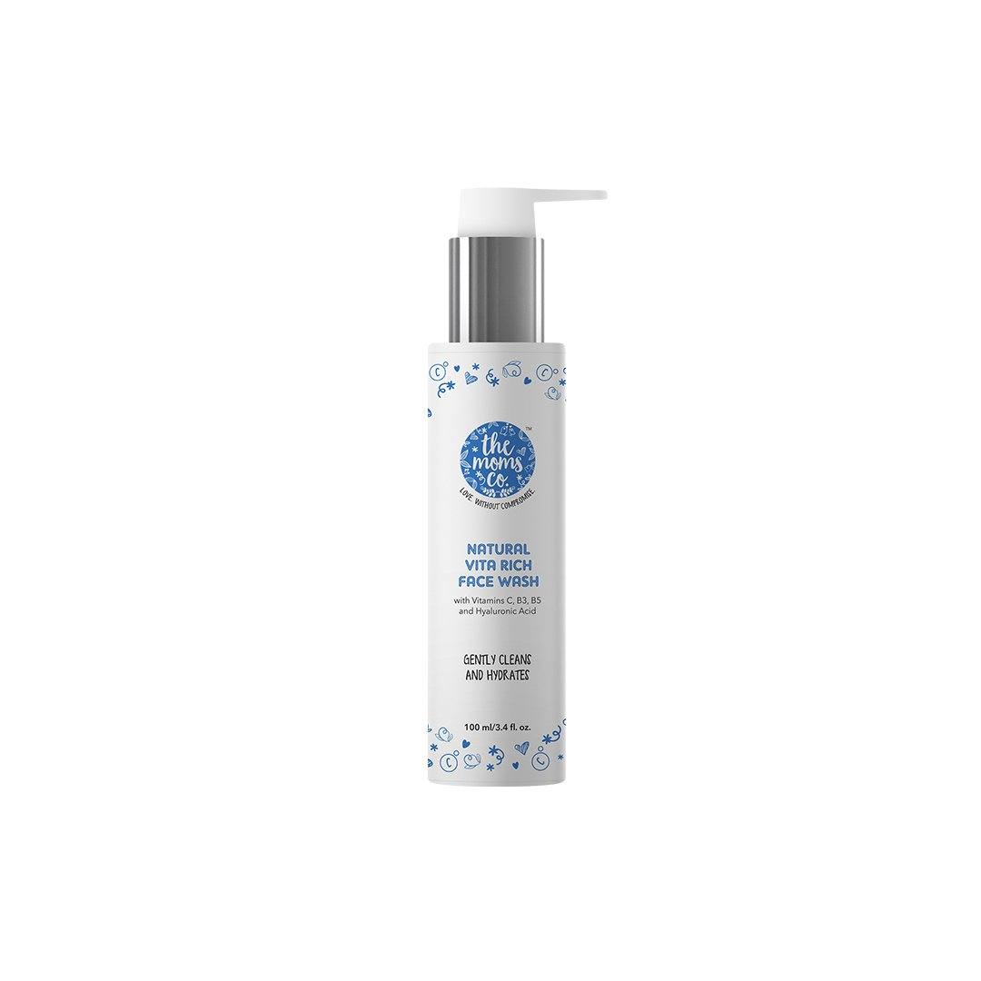 The Moms Co. Natural Vita Rich Face Wash with Vitamins C, B3, B5 and Hyaluronic Acid