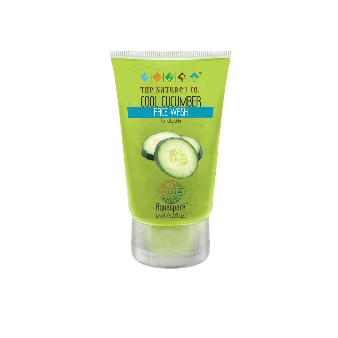 The Nature's Co. Aquaspark, Cool Cucumber Face Wash for Dry Skin