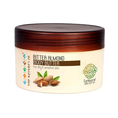 The Nature's Co. Earthborne, Bitter Almond Body Butter for Dry and Sensitive Skin